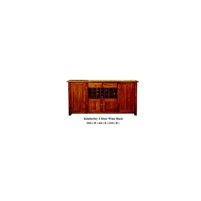 Kimberly wine rack buffet 4 door