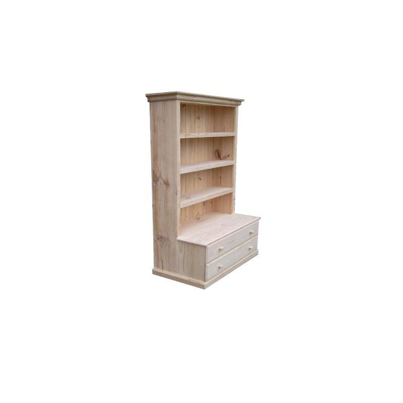 6X3 Deluxe Combo Bookcase with 2 Drawers