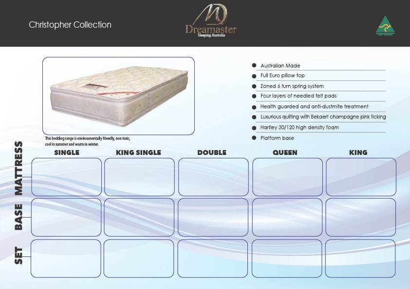 Christopher Collection 15 year warranty Mattress