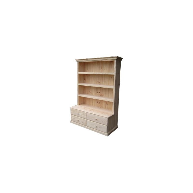 6X4 Deluxe 4 Drawer Combo Bookcase