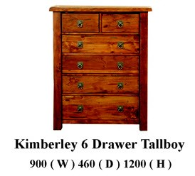 Kimberly 6 drawer tallboys