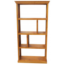 Geelong Staggered Cube Bookcase with Moulding