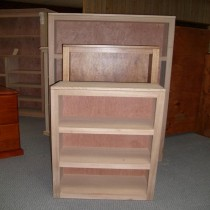 Decor Floating Top Pine/Tassie Oak Bookcases