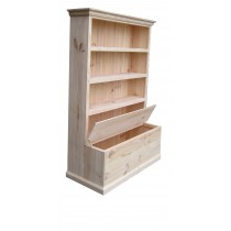 6x3 bookcase with toy box