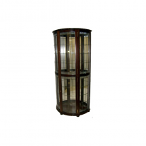 Long Half Round Crystal Cabinet