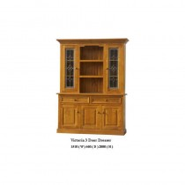 Victoria 3 door dresser with leadlight