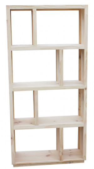 Bendigo Staggered Cube Bookcase Without Moulding