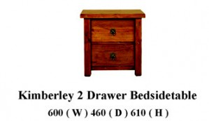 Kimberly 2 drawer Bedside