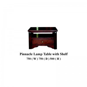 Pinnacle Lamp Table With Shelf
